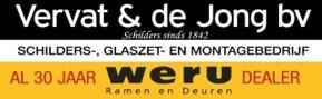 Weru vakbedrijf Vervat & de Jong 30 jaar logo